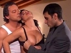 One and only Italian Gang-fuck With Busty Lush Woman Going Insane Over Th