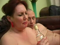 Drunk Russian mature fucked
