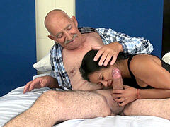 """cuckold on my Wife 68 year elderly 8"""" rod"""