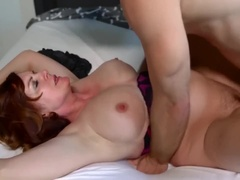 Rough sex with Sleepy Step Mom Rough big Tits - Andi James