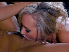 Luxurious Eager mom satisfies her Ebony dom with cunnilingus