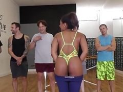 Ebony Zoey Reyes Gets Gangbanged In Her Dance Studio