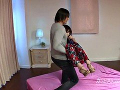 pretty oriental ex girlfriend Megumi got Pegged down up & eyes cover