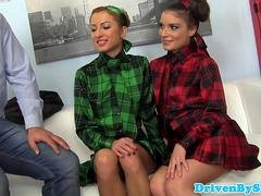 Cumswapping juicy ATM trio with Anita B