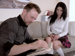 Punished Pussy: Naughty Schoolgirl Spanked & Fucked
