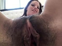 Undersized unshaved cum bucket gets fucked and creamed