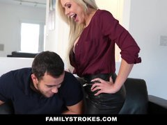 FamilyStrokes - Sexually available mom Gets down and dirty Step-Son for Revenge