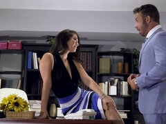 Gorgeous secretary Eva Lovia gets rammed by her co-worker