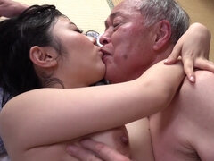 Young Japanese guy let his grandpa fuck his girlfriend