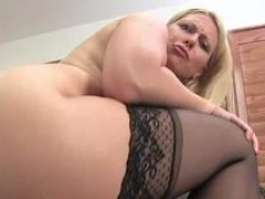 Fleshy Soccer mom blondie gets rammed so damn hard in the office