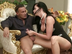 Fuck pole Riding On Expensive Chair With Larissa Dee
