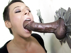 Ariel Alexis Deepthroats Black Flag pole - Gloryhole