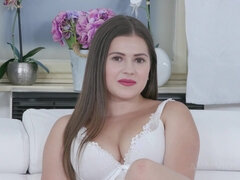 Serina Gomez casting with BIG BLACK COCK