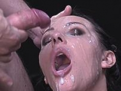 hot adult star bukkake & facial cum feature