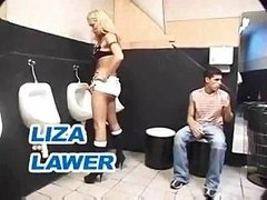 T-girl 3-way In A Toilet