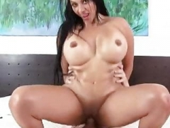 Latina jumping on love pole