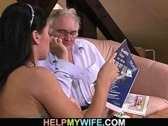 Cuckolding surprise for sexy youthful wife