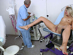 Bianca Ferrero gynecology exam and ejaculation heartbeat