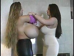 A duo girls with absolutely enormous tits get alternated and furthermore play with each separate supplementary