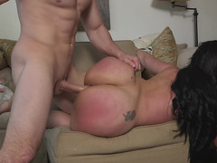 Fat ass slut Carmen De Luz demands hard fucking from him