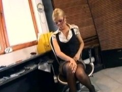 Secretary Fucking In Stockings A...
