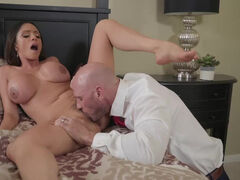 Super horny stepmom cleaning sons cock