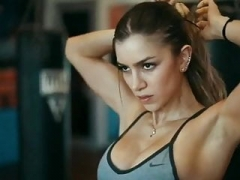Anllela Sagra. Hidden strong, athletic and intimidating arms