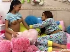 Innocent teen chicks Getting down and dirty