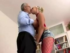 Older british man gets down and dirty 18-19 y.o. hoe get down and moreover dirty and moreover fellatio