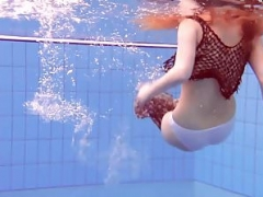 Matrosova hot ginger cunt in the pool