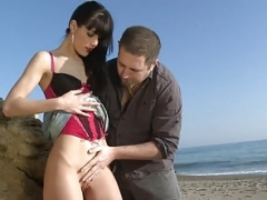 Inexperienced Legal teen Getting Pounded On The Beach