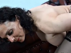 mature with red anal dildo