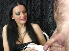 Jerk off Contest Long French Nails