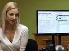 LOAN4K. Its not a casting but blonde gets naked and bangs in office