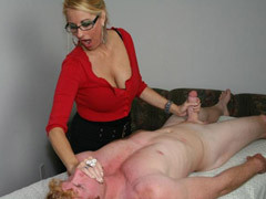 Busty Blonde Mommy Gives A Special Massage