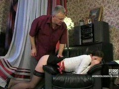 Aged penis gets down and dirty young-looking Russian maid