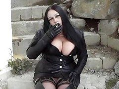 Hot Big-breasted Leather Brunette Smoking Blowjobs
