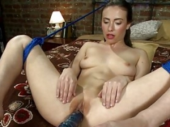 Jerking off amateur squirts getting toyed