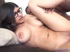 Mature milf smoking blowjob Mia Khalifa Tries A Big Black Dick
