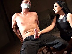 clair brooks to bound men masturbated