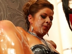 Classy euro gals cumcovered at gloryhole