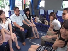 Japanese group fuck orgy with hot Asian girls
