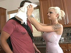 Underweight breasty legal teen Delta fucks in the kitchen