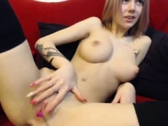 Gals Out West Curvy inexperienced blonde toys her pinky pussy