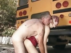 Redhead school bitch analyzed by principal