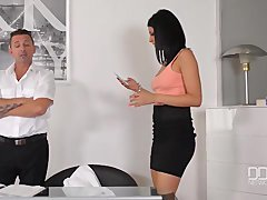 Office daydreamer makes love sexy secretary in the tooshie