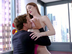 Perfect milf Jessa Rose grinds on fat dick and savors the intense friction