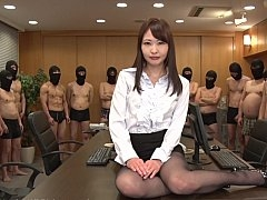 JAV surprise gang-bang for a businesswoman