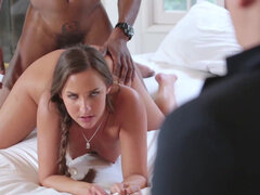 Amirah Adara gagg on bbc & get her pussy destroyed in front of her bf