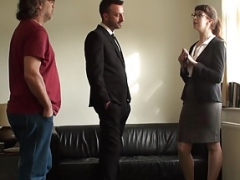 Submissive uk realtor takes dick ass to mouth